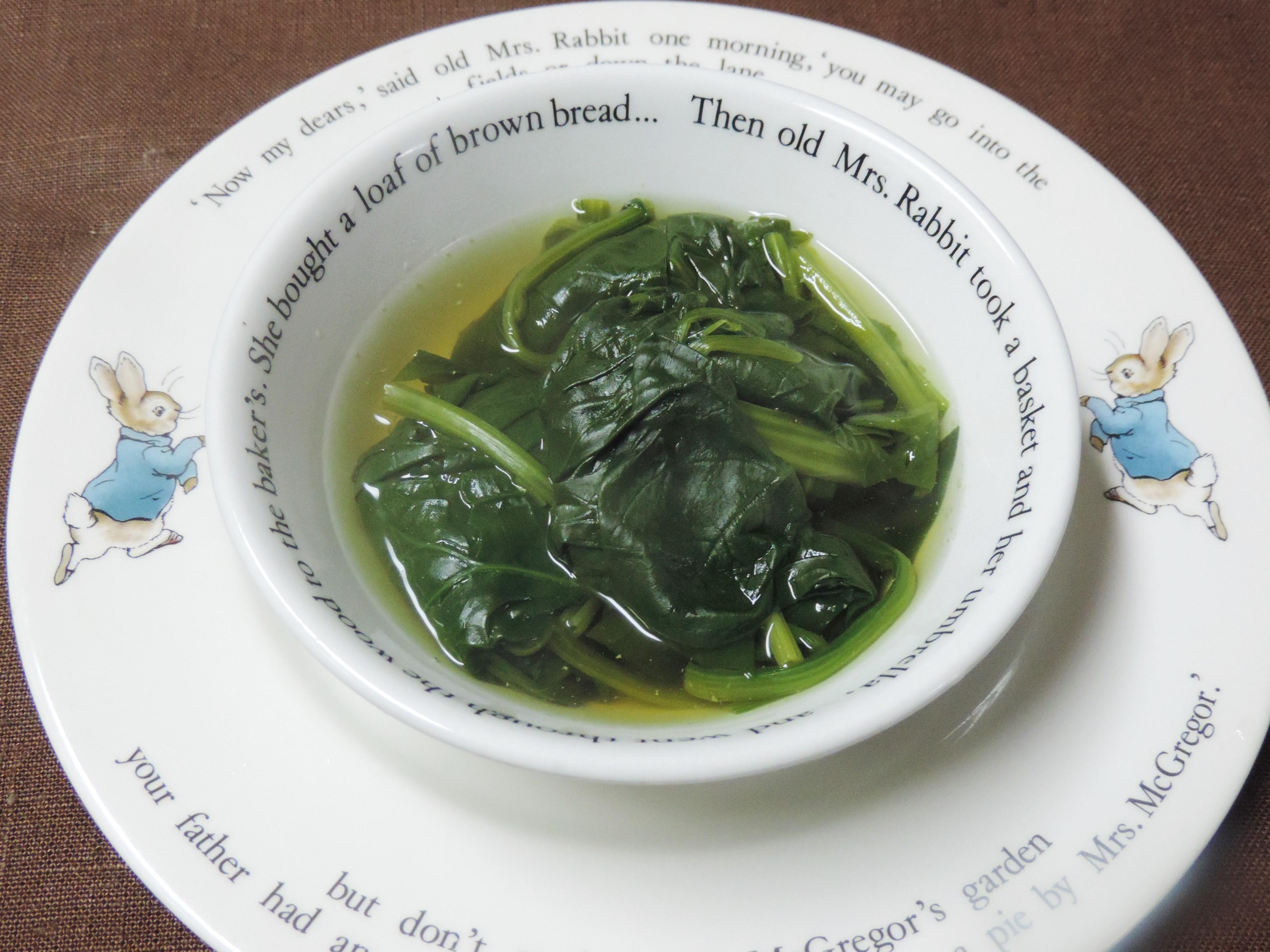 【レシピ付き♥】「ほうれん草のコンソメ煮」