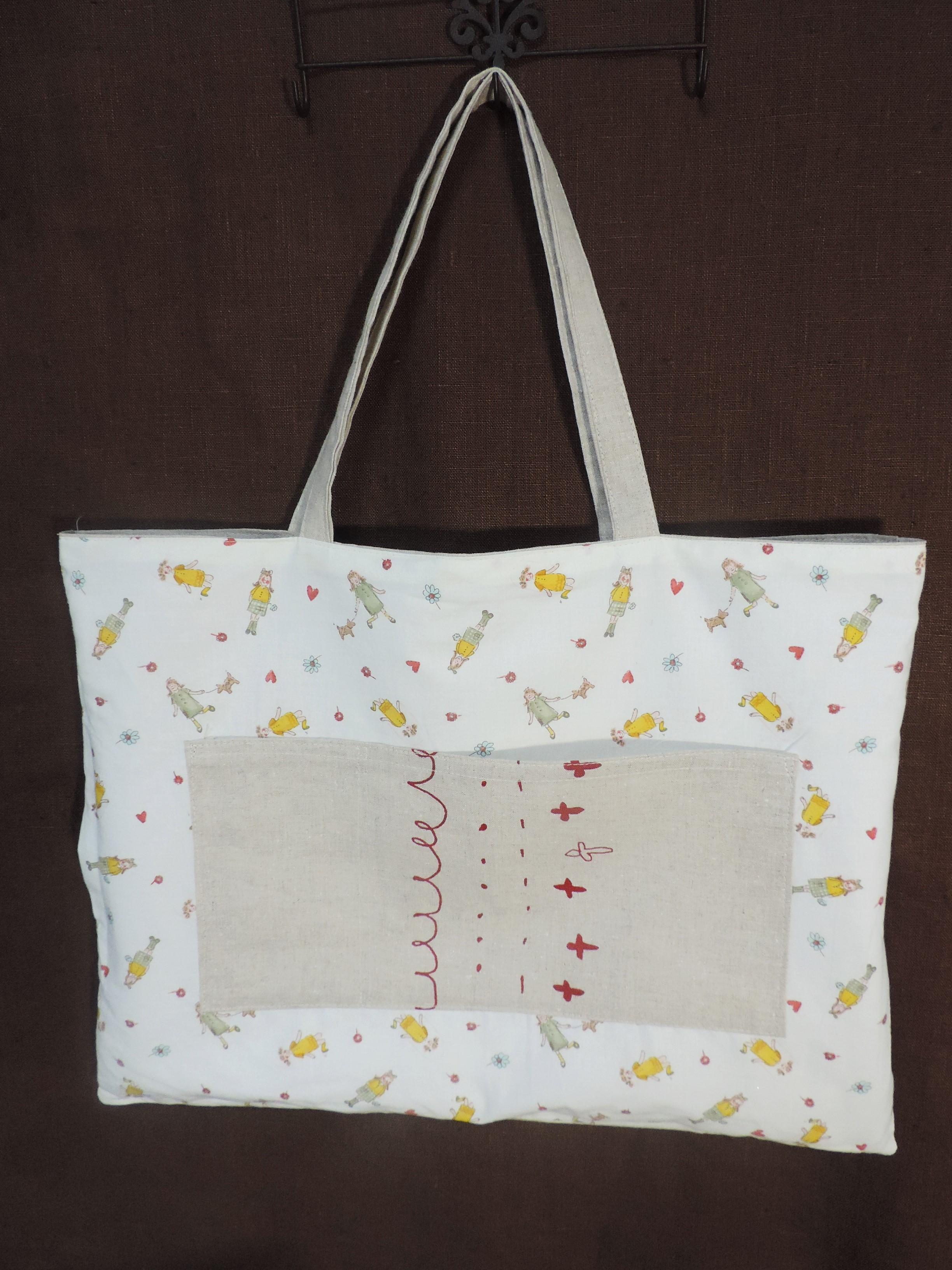【春夏用♥】マルシェ気分のお買物バッグを手作りしました!