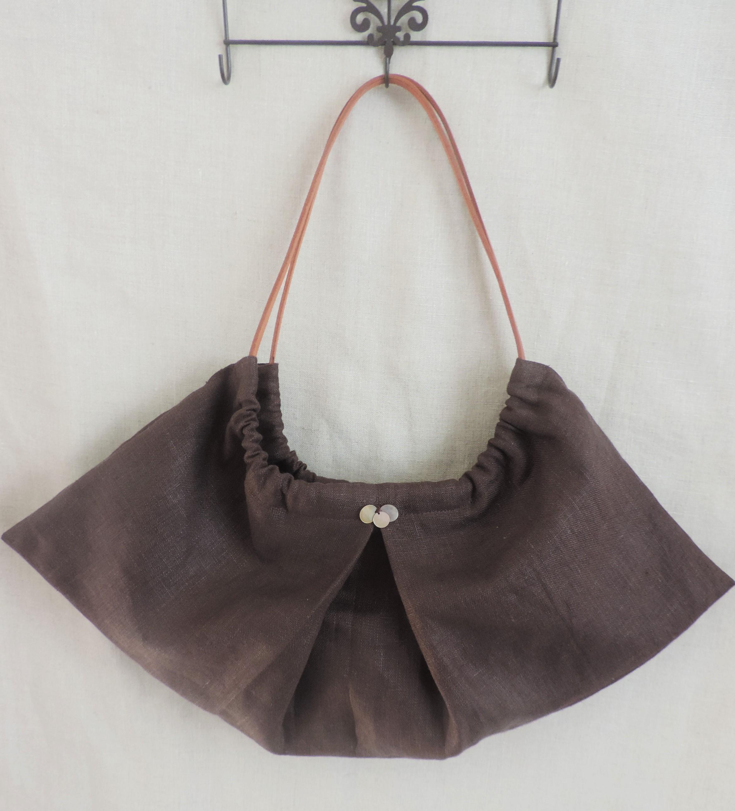 【春夏用♥】形の変化が可愛いプチバッグを手作りしました!