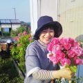 オーガニックのバラの花がとても綺麗に咲いたので、ブーケにしました!