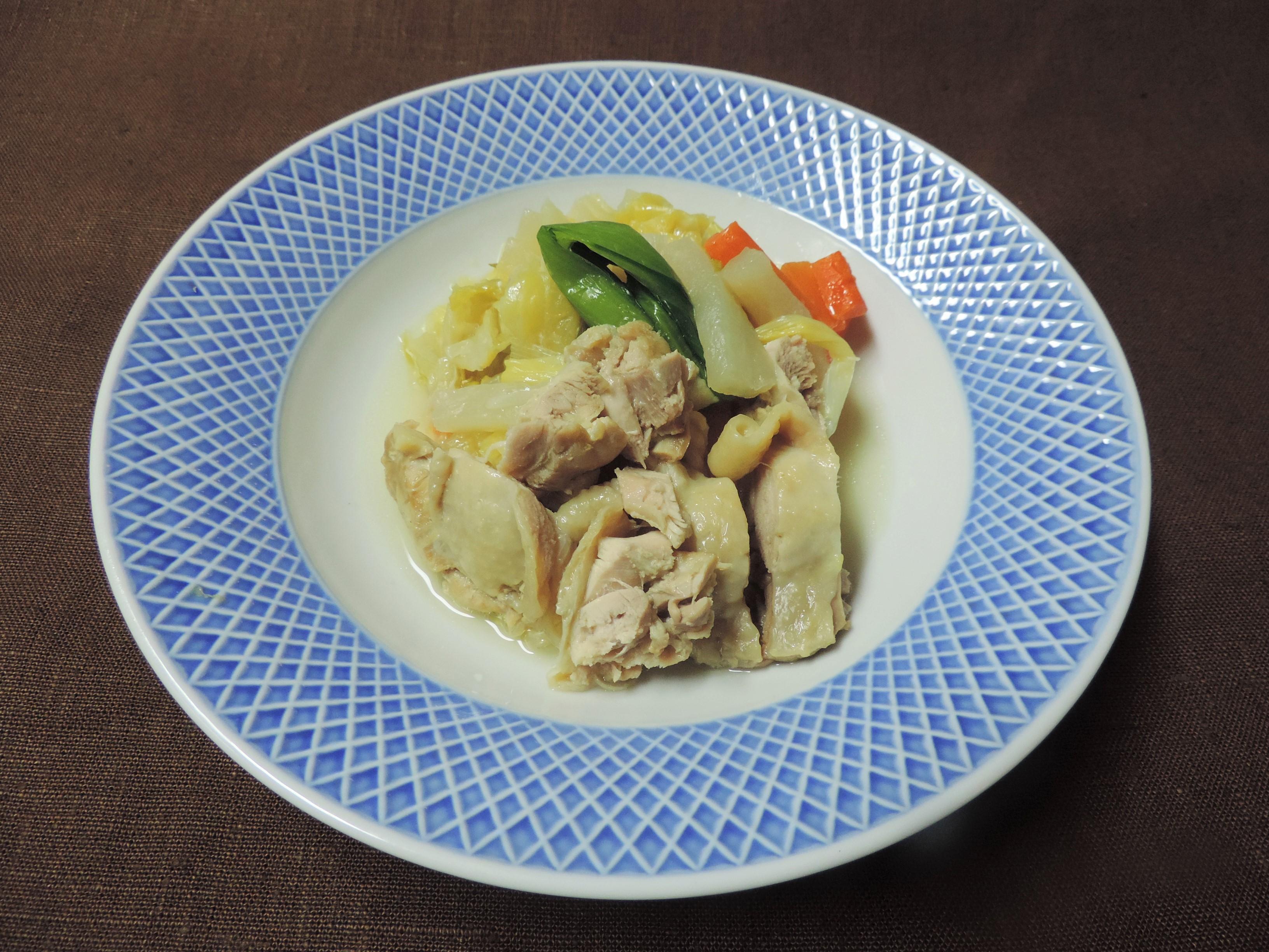 【レシピ付き♥】「鶏のせ野菜煮」