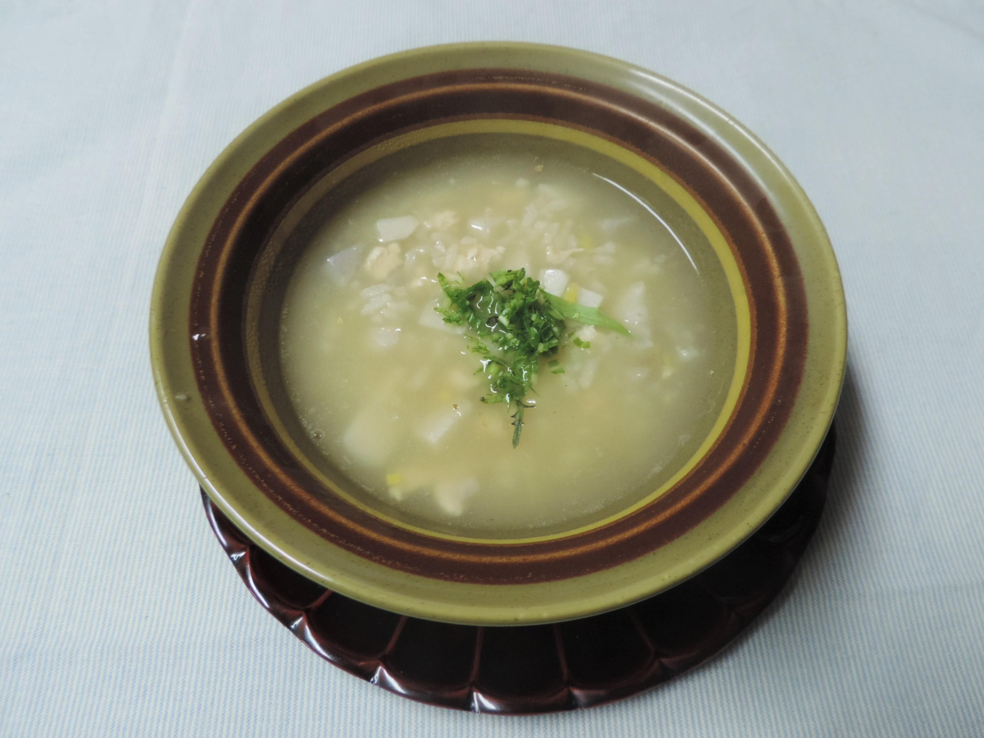 【養生レシピ⑨♥】「里芋と鶏ささみの雑炊」