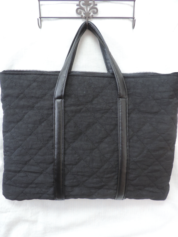 【オフィスカジュアル♥】シンプルなお仕事用バッグを手作りしました!