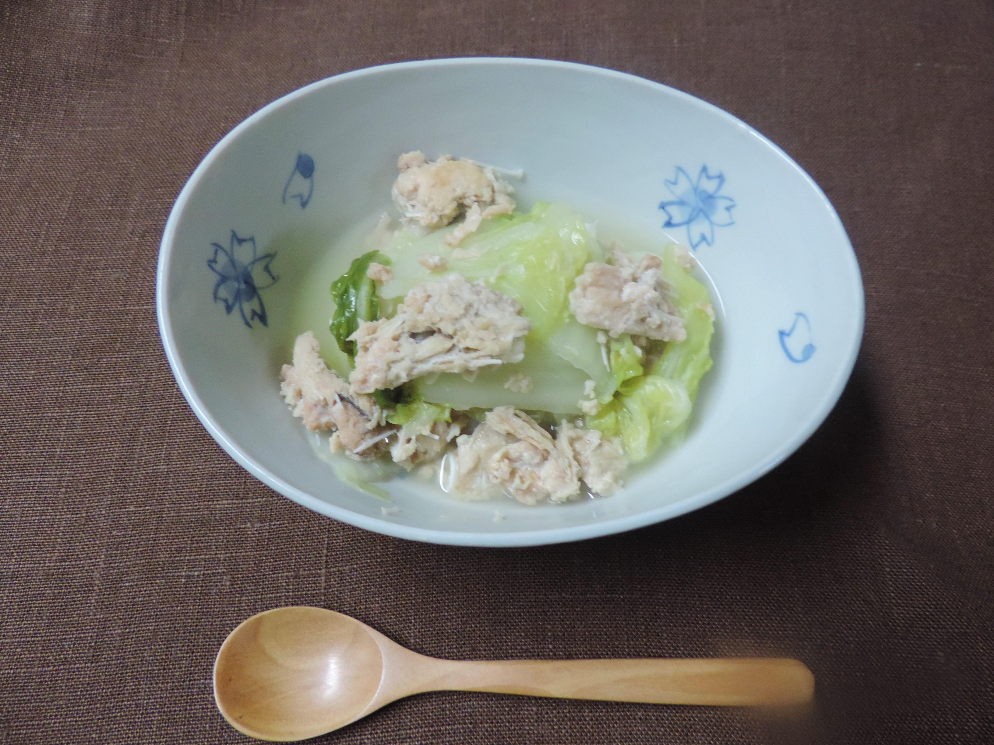 【養生レシピ⑥♥】缶詰で簡単に!「白菜とさけ缶の煮つけ」