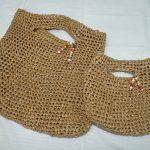 クラフト糸で、夏にぴったりの親子バッグを手作りしました!